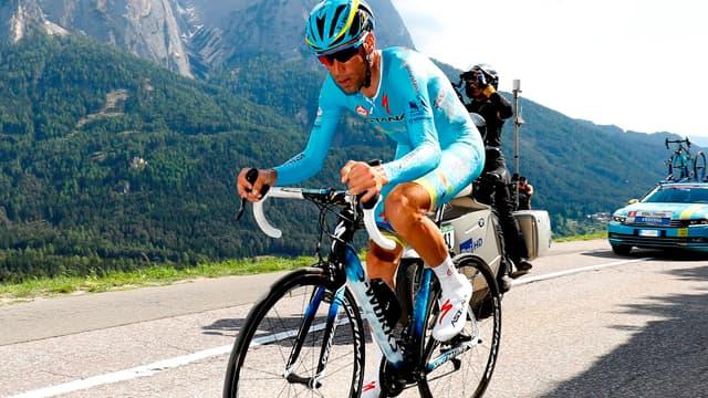 Vincenzo Nibali (Astana) a vécu une étape galère sur la 15e étape du Giro.