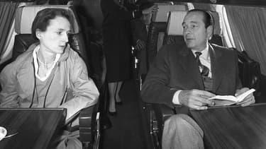 Laurence Chirac avec son père alors maire de Paris.
