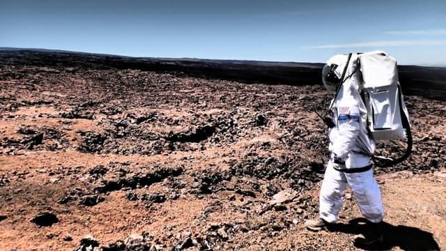 Photo prise pendant la simulation de vie martienne de la mission Hi-Seas, à Hawaii.