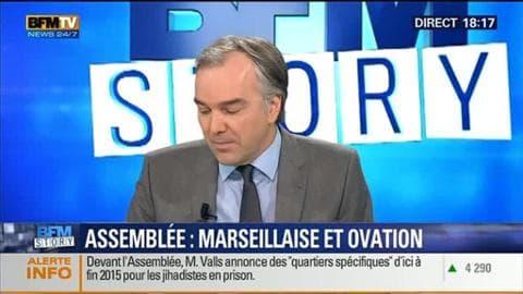 BFM Story: Hommage aux victimes des attentats: l'Assemblée nationale entonne la Marseillaise - 13/01