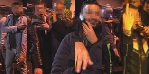 Des spectateurs de Dieudonné réalisent des ''quenelles'' face aux caméras, jeudi 9 janvier, devant le Zénith de Nantes.