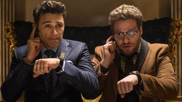 """James Franco et Seth Rogen dans """"L'interview"""", le film qui fait grincer des dents le régime de Kim Jong-Un."""