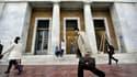 Athènes a décidé de puiser dans les caisses de ses collectivités locales pour reverser les fonds à la Banque nationale grecque (photo) et payer avec les retraitres et les salaires des fonctionnaires.
