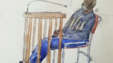 Image d'archives du procès de Felicien Kabuga, un des principaux suspects du génocide rwandais, le 20 mai 2020 à Paris