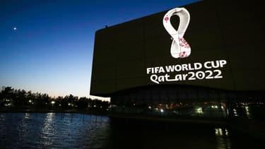 Le logo du Mondial 2022 au Qatar, à Doha le 3 septembre 2019