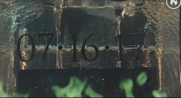 """Capture d'écran du Facebook Live de HBO, dévoilant la date de diffusion de """"Game of Thrones""""."""