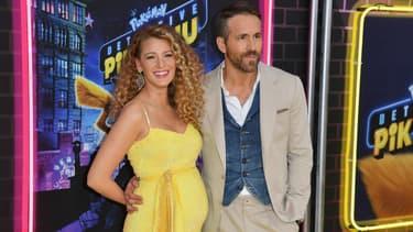 Blake Lively et Ryan Reynolds lors de l''avant-première de Detective Pikachu le 2 mai