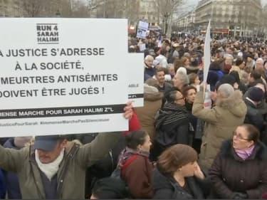 """Une manifestation à Paris pour réclamer """"justice"""" pour Sarah Halimi, le 5 janvier 2020."""