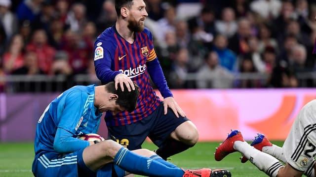 Lionel Messi et Thibaut Courtois