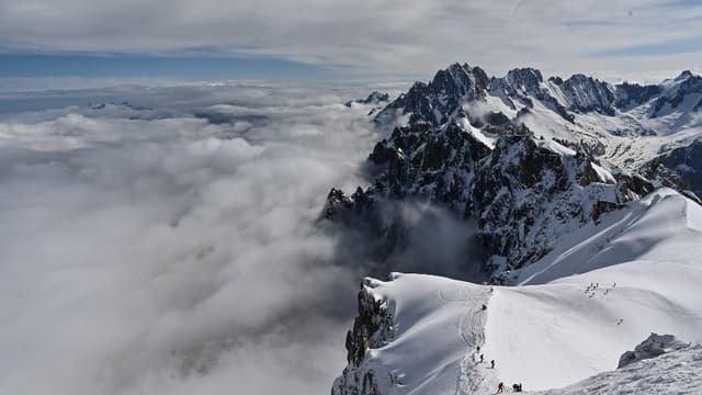 "La ""vallée blanche"" à Chamonix."
