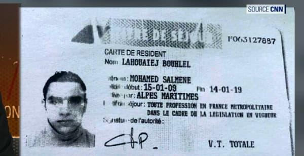 Le titre de séjour français de Mohamed Lahouaiej-Bouhlel.