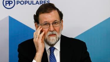 Le chef du gouvernement espagnol Mariano Rajoy, le 22 décembre 2017 à Madrid.
