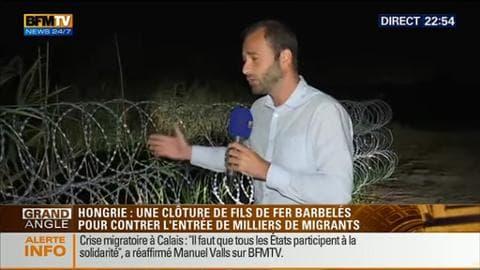 Edition spéciale Calais: une clôture barbelée a été érigée à la frontière hongroise