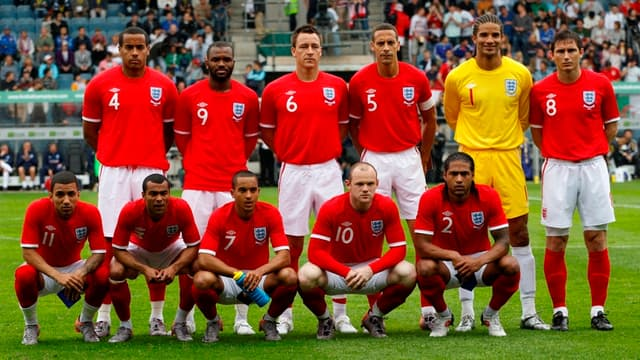 L'équipe d'Angleterre