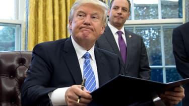 Donald Trump dans le Bureau ovale, le 24 janvier 2017.