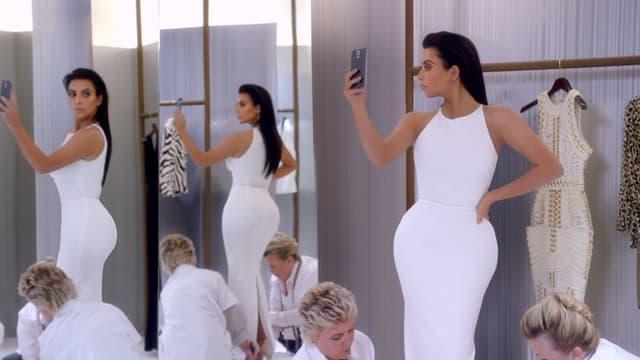 Kim Kardashian dans le spot T-Mobile, qui sera diffusé lors du Super Bowl 2015.