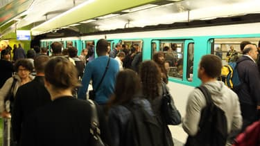 Le métro parisien à la gare du Nord. (Photo d'illustration)