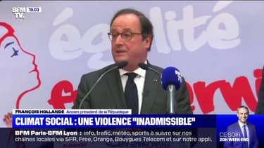 """Climat social: François Hollande dénonce des violences """"inadmissibles"""""""