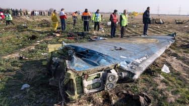 Débris du Boeing en Iran