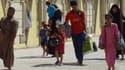 Souvent sans eau, ni nourriture, des milliers de chrétiens d'Irak sont contraints à fuir l'avancée de l'Etat islamique. Ici, des exilés arrivent à la ville de Kirkuk le 7 août 2014.