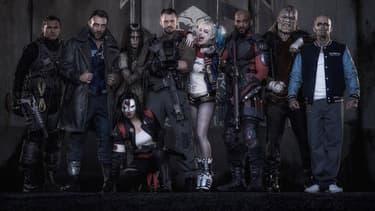 """Will Smith, Cara Delevingne et Margot Robbie, méconnaissables au casting de """"Suicide Squad""""."""