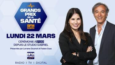 Lundi 22 mars, à 21h, BFM BUSINESS diffusera la 1ère édition des  « GRANDS PRIX BFM BUSINESS DE LA SANTÉ ».
