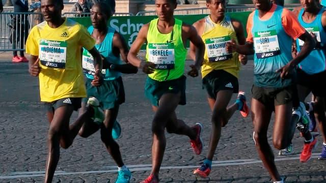 Kenenisa Bekele, vainqueur du marathon de Paris