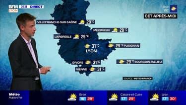 Un peu plus de nuages ce mardi mais une belle journée d'été, jusqu'à 31°C à Lyon