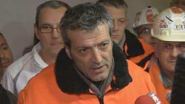Edouard Martin, en décembre 2012, à Florange.