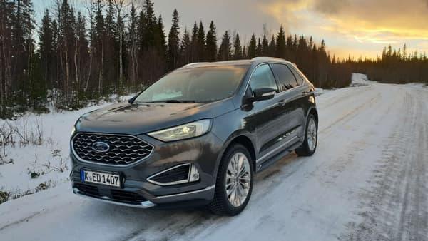 Le Ford Edge Vignale de notre essai en Suède