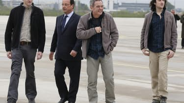 Pierre Torres, à gauche, lors de son arrivée à Paris en avril 2014 (photo d'illustration).
