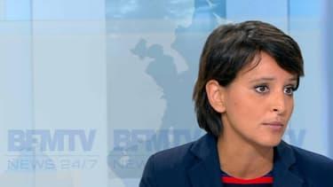Najat Vallaud-Belkacem sur le plateau de BFMTV, jeudi 8 septembre 2016