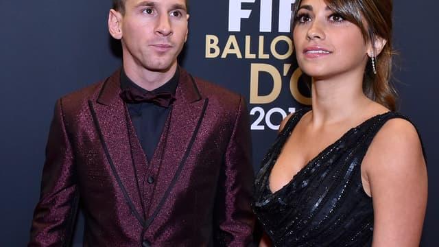 Lionel Messi et Antonella Roccuzzo