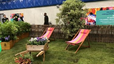 La station Miromesnil a été transformée en jardin éphémère.