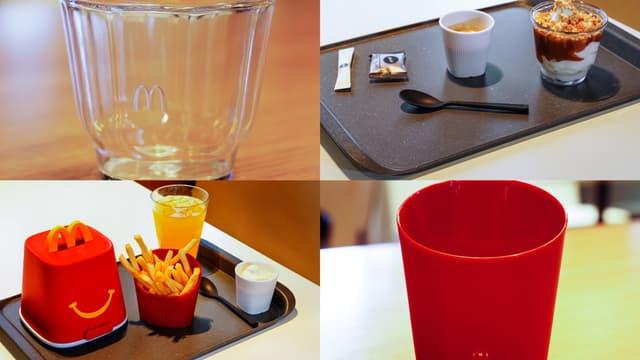 McDonald's teste de la vaisselle réutilisable dans 10 restaurants.