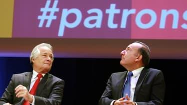 """Jean-François Roubaud (à gauche) va proposer à Pierre Gattaz une """"rencontre"""" pour une éventuelle non-participation à la conférence sociale."""