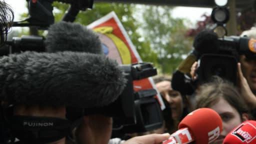 Catherine Blein, conseillère régionale du Front national pour la Bretagne, le 4 mai 2017 à Dol-de-Bretagne