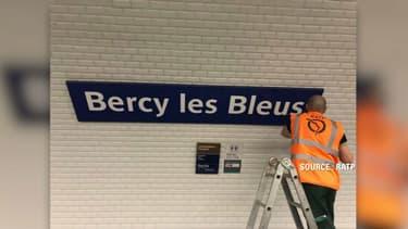 La station Bercy sera renommée Bercy les Bleus