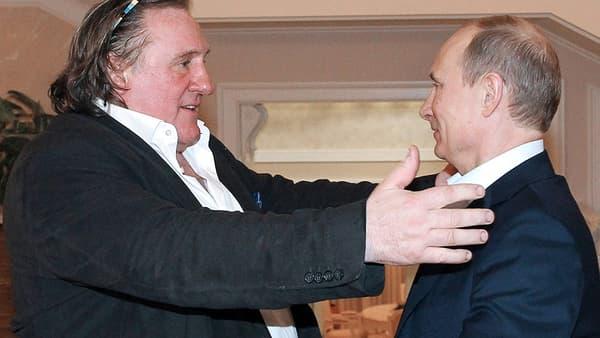 Gérard Depardieu et Vladimir Poutine en 2013.