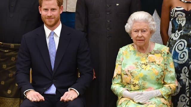 Le prince Harry et sa grand-mère Elizabeth II