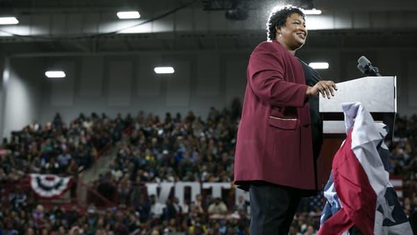Stacey Abrams lors d'un meeting à Atlanta, en Géorgie, le 2 novembre.