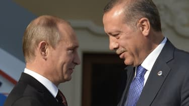 Vladimir Poutine et Recep Tayyip Erdogan, en 2013.