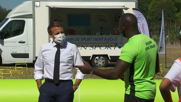 Emmanuel Macron à Chambord ce mercredi.