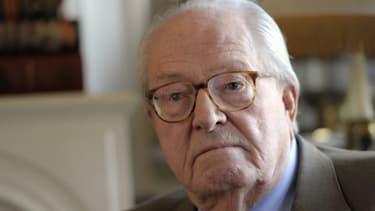 Jean-Marie Le Pen, le président d'honneur du Front national.