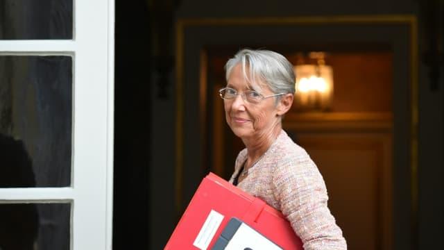 La ministre du Travail, Elisabeth Borne, à l'Hôtel de Matignon, à Paris, le 2 septembre 2021