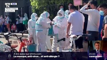 Selon les autorités chinoises ce dimanche, 57 nouveaux cas confirmés de contamination au coronavirus ont été recensés en 24h. C'est le plus haut chiffre quotidien depuis avril, faisant craindre une résurgence de l'épidémie dans le pays.36 cas ont été détectés à Pékin, tous en lien avec un gros marché du sud de la capitale chinoise.Pékin où des milliers d'habitants ont été testés après l'apparition de ces nouveaux cas de coronavirus.