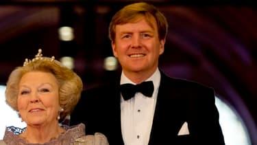 La reine Beatrix et son fils Willem-Alexander