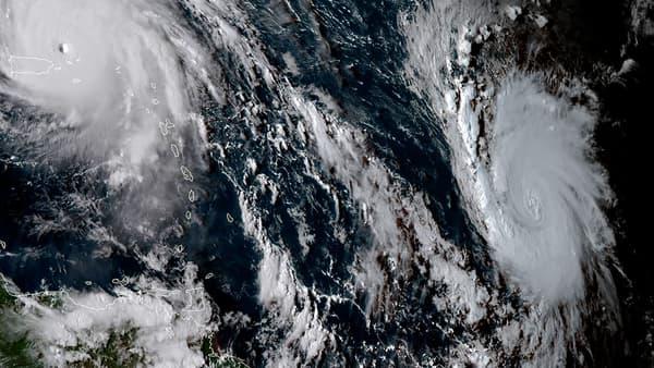 Irma (gauche) est suivi de Jose (droite), un ouragan de catégorie 1 qui suit une trajectoire comparable.
