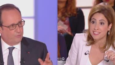 """François Hollande a été interpellé à plusieurs reprises par Léa Salamé lors de l'émission """"Dialogues Citoyens""""."""