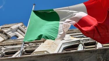 Le drapeau italien, à Rome.